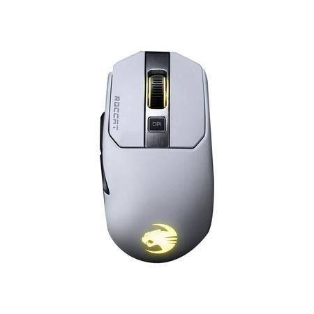Roccat Kain 200 AIMO 1600 DPI Titan Click Technology Wireless Gaming Mouse in White