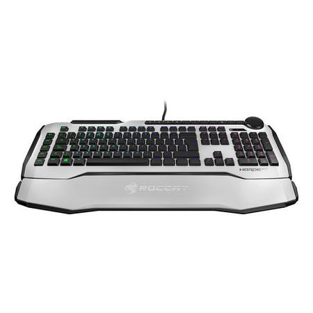 Roccat Horde AIMO Membranical RGB LED Gaming Keyboard in White