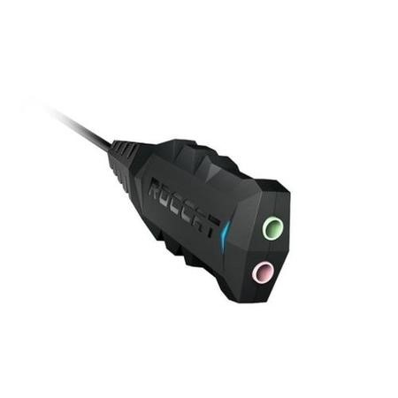 ROCCAT Juke Virtual Surround Sound 7.1 USB Stereo Soundcard/Headset Adapter in Black