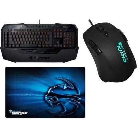 Roccat Gaming Bundle - ISKU FX Keyboard + Kiro Modular Mouse + Sense Chrome Mousepad