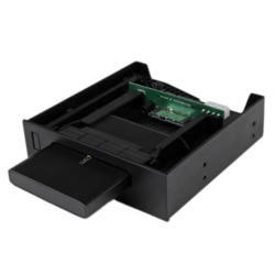 "StarTech.com 5.25"" USM™ Storage Bay with 2.5"" SATA USM / USB 3.0 Hard Drive Enclosure"