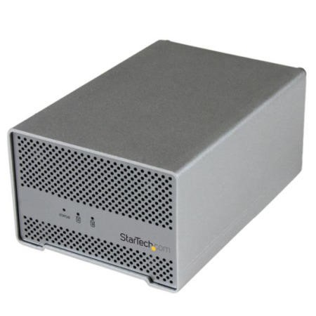 "StarTech.com Thunderbolt™ Hard Drive Enclosure with Thunderbolt Cable - Dual Bay 2.5"" HDD Enclosure"