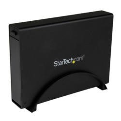 "StarTech.com USB 3.0 Trayless External 3.5"" SATA III HDD Enclosure w/ UASP for SATA 6 Gbps – Black"