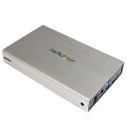 StarTech.com 3.5in Silver USB 3.0 External SATA III Hard Drive Enclosure with UASP – Portable Extern