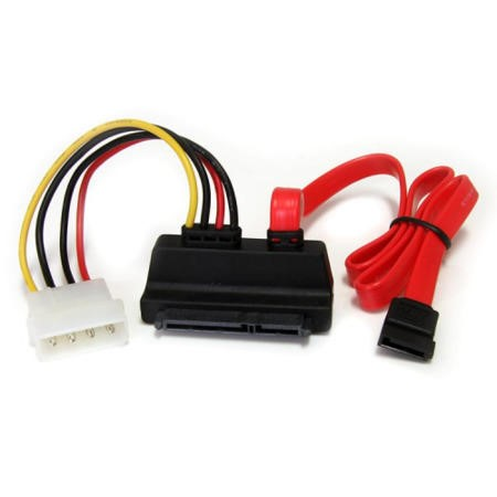 StarTech.com 18in Right Angle SATA Cable with LP4 Adapter