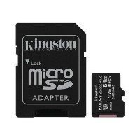Kingston Canvas Select Plus 64GB UHS-I Micro SD Memory Card + SD Adapter
