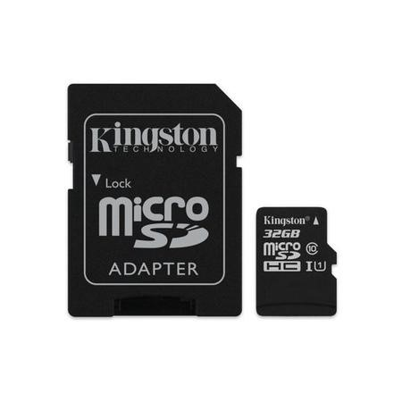 GRADE A1 - Kingston Canvas Select 32GB Class 10 MicroSDHC Card with Adapter