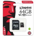 SDCS/64GB Kingston Canvas Select 64GB Class 10 MicroSD