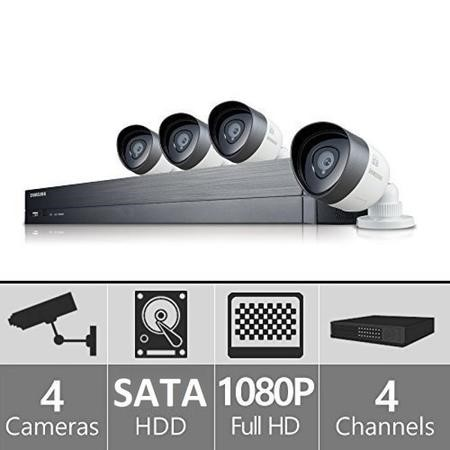 Samsung 4-Channel DVR 1080p 4 Camera CCTV Security Kit with  1TB Storage