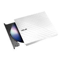 ASUS Lite Slimline 8x DVD RW External Optical Drive - White