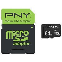 PNY 64GB MicroSDXC Card with Adapter