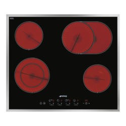 Smeg SE2664CX2 60cm 4 Zone Wafer Thin Frame Ceramic Hob with Touch Controls