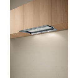 Elica SKLOCK90 Built-in Twin Motor Silver Grey 82cm Wide Telecopic Cooker Hood With Glass Panel
