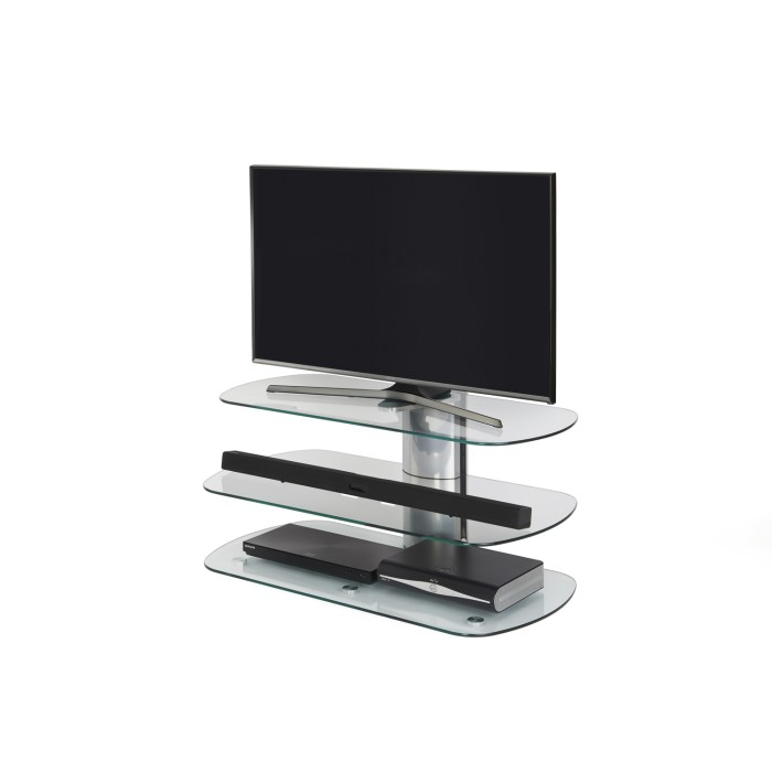 Off The Wall Skyline Tv Stand For Up To 55 Tvs Silver Laptops