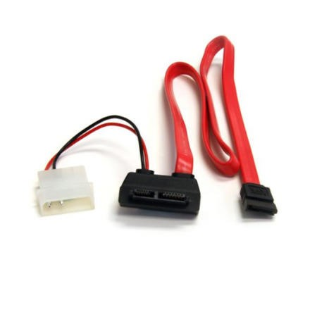 StarTech.com 20in Right Angle Slimline SATA to SATA w/ LP4 Power Cable