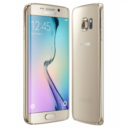"A1/SM-G925FZDABTU Refurbished Samsung Galaxy S6 Edge Gold 5.1"" 32GB 4G Unlocked & SIM Free"