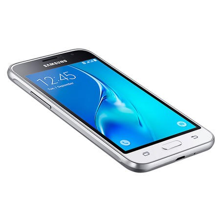 "Samsung Galaxy J1 2016 White 4.5"" 8GB 4G Unlocked & SIM Free"
