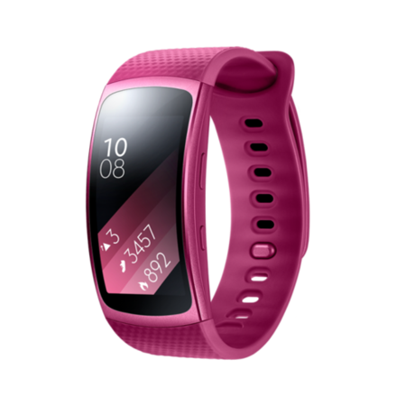 GRADE A1 - Samsung Gear Fit2 Sports GPS Activity Tracker With Heart Rate - Pink Small