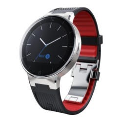 Alcatel One Touch Watch Silver / Black Silicone