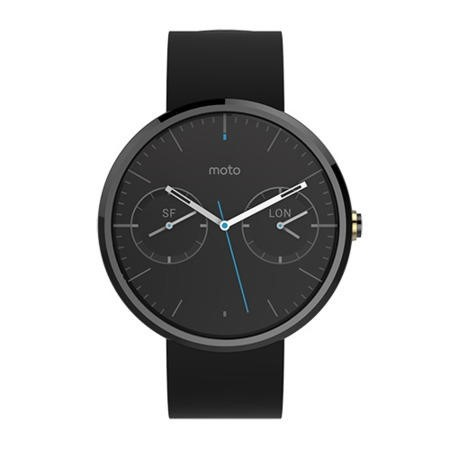 Motorola Moto360 Black / Black Leather