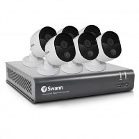 Swann CCTV System - 8 Channel 1080p HD DVR with 6 x 1080p Thermal Sensing Cameras & 1TB HDD