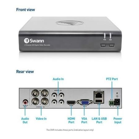 Swann 4 Channel HD 1080p Digital Video Recorder with 1TB Hard Drive
