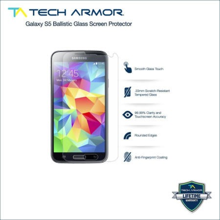 Ballistic Glass Screen protector with Antifingerprint Coating Galaxy S5!  9H Hardness with 99% Clarity