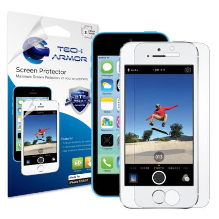 HD Clear screen protector for Apple iPhone 5/5S - 3 pack