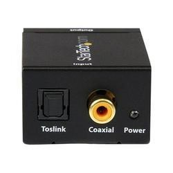 SPDIF Digital Coaxial or Toslink Optical to Stereo RCA Audio Converter