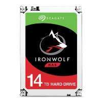 "Seagate IronWolf ST14000VN0008 - Hard drive - 14 TB - internal - 3.5"" - SATA 6Gb/s - 7200 rpm - buffer_ 256 MB"