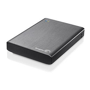 Seagate 1TB Wireless Plus Mobile Device Storage Hard Drive - Black