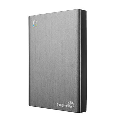"Seagate Wireless Plus 2TB 2.5"" Portable Hard Drive in Silver"
