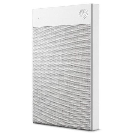 Seagate External 2TB Plus Ultra Touch USB-3 Hard Drive - White