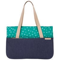 "STM Grace 15"" Deluxe Macbook/Notebook Sleeve in Teal Dot/Blue"