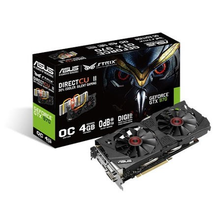 Asus STRIX GeForce GTX970 DirectCU II OC 4GB with NVIDIA GeForce Experience""