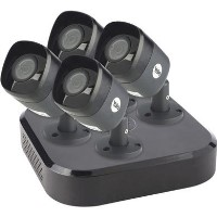 Yale CCTV System - 4 Channel 4MP DVR with 4 x 4MP Weatherproof Cameras & 2TB HDD