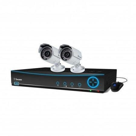 Box Open Swann DVR4-4150 4 Channel 960H Digital Video Recorder with 2 x PRO-842 900VTL Cameras & 500GB Hard Drive