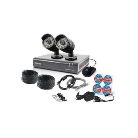 Box Open Swann DVR4-4400 4 Channel HD 720p Digital Video Recorder with 2 x PRO-A850 720p Cameras & 500GB Hard Drive