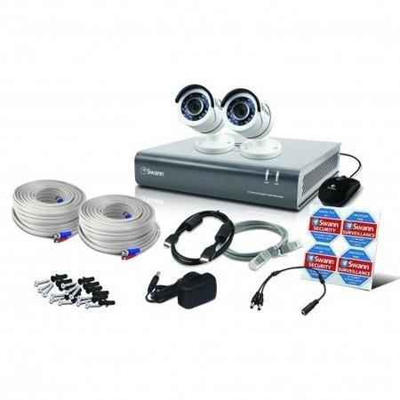 Swann CCTV System - 4 Channel 1080p DVR with 2 x 1080p Cameras & 1TB HDD