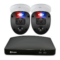 Swann CCTV System - 4 Channel 1080p Full HD DVR with 2 x 1080p HD Enforcer Spotlight Cameras & 1TB HDD