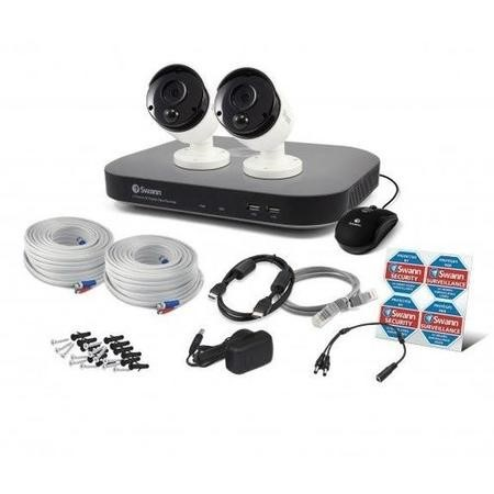 Swann CCTV System - 4 Channel 3MP DVR with 2 x 3MP Thermal Sensing Cameras & 1TB HDD