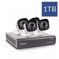 Swann CCTV System - 4 Channel 720p HD DVR with 4 x 720p HD Motion Sensing Cameras & 1TB HDD
