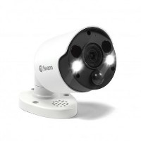 Swann 4K Ultra HD Thermal Sensing White IP Bullet Camera with 150ft Night Vision - 1 Pack