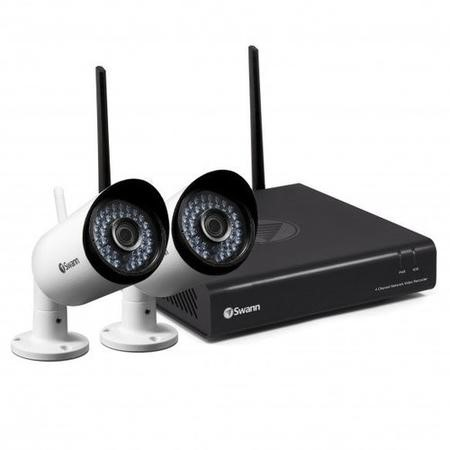 SWNVK-485KH2-UK Swann Wireless CCTV System - 4 Channel 1080p HD NVR with 2 x 1080p WiFi Cameras & 1TB HDD