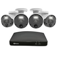Swann CCTV System - Master Series 8 Channel 4K Ultra HD NVR with 4 x 4K Motion Sensing Bullet Cameras & 2TB HDD
