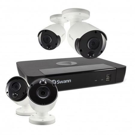 Swann CCTV System - 8 Channel 4K Ultra HD NVR with 4 x 4K Ultra HD Thermal Sensing Cameras & 2TB HDD