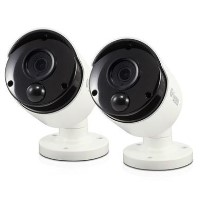 GRADE A1 - Swann PRO-T890 Super HD 5MP Thermal Sensing White IP Bullet Camera with 30m Night Vision - 2 Pack