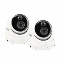 Swann 5MP PIR White Analogue Dome Camera - 2 Pack
