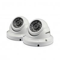 Box Open Swann PRO-H856 HD 1080p Dome Camera - Night vision up to 100ft - Twin Pack
