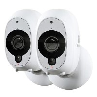 Swann 1080p Full HD Wireless Wi Fi Camera with Heat/Motion Sensing Night Vision & Audio - Twin Pack